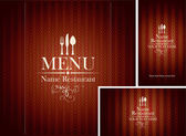 Set design Restaurant — Stock Vector