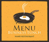 Business lunch — Stock Vector
