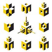 Logo set — Stock Vector