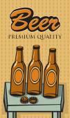 Bottles of beer — Stock Vector
