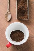 Ground coffee — Stock Photo