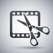 Video editing icon — Stock Vector