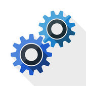 Gears or settings icon — Stock Vector