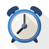 Alarm clock flat icon — Stock Vector