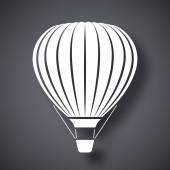 Hot air balloon icon — Stock Vector