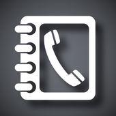 Icono de libreta de teléfonos — Vector de stock