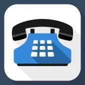 Push-button telephone icon — Stock Vector