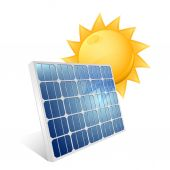 Solar panel icon — Stock Vector