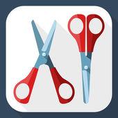 Two scissors — Stock Vector