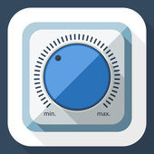 Volume knob icon — Vettoriale Stock
