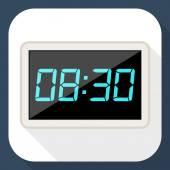 Digital clock icon — Stock Vector