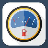 Fuel gauge icon — Stock Vector