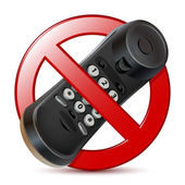 No phone sign — Stock Vector