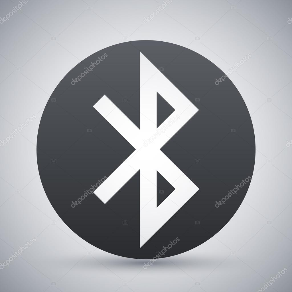 黑色和白色蓝牙标志图标