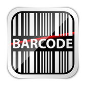 Barcode icon with red laser beam — Stock Vector