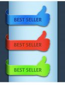 Best seller banners — Stock Vector