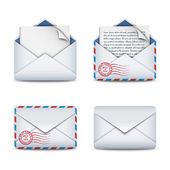 E-mail icons concept — Stock Vector