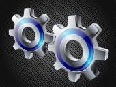 Gears on hi-tech background. — Stock Vector