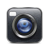 Foto camera-pictogram. — Stockvector