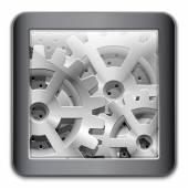 Gearbox, mechanism Icon — Stock Vector