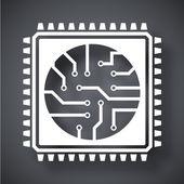 Prozessor, Chip-Symbol — Stockvektor