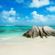 Panorama of Anse Source d'Argent beach at Seychelles - nature b — Stock Photo #53253919