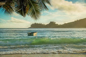 Tropical beach Baie Lazare,Seychelles — Stock Photo