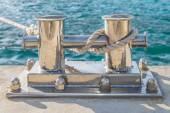 Marine bollard for mooring — Stock Photo