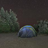 Gece kamp çadırı — Stok fotoğraf