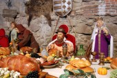 Historical scene from Hungary with wax statues — Stock Photo