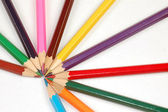 Colorful wooden pencils — Stock Photo