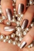 Silver nails — Stock Photo