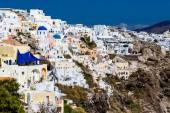 Grecia, Santorini-Oct 3: Top vista sul mare e il villaggio di Oia. O — Foto Stock