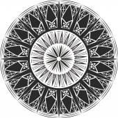 Mandala tattoo. Crystalline form. — Stock Vector