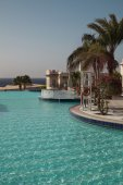 Pool at hotel — Stock Photo