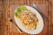 Fried rice with seafood — Stock Photo