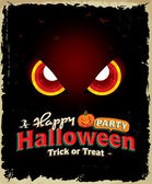 Vintage Halloween-Poster-design — Stockvektor