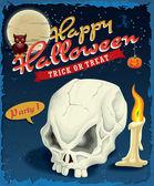 Vintage design plakátu halloween — Stock vektor