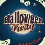 Vintage Halloween poster design — Stock Vector #54280601