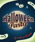 Vintage Halloween poster design — Stock Vector