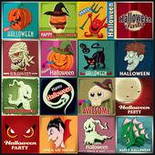 La valeur de conception d'affiche Vintage halloween — Vecteur