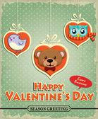 Vintage Valentine poster design — Stock Vector