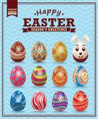 Vintage Easter egg design set — Stockvector