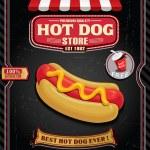Vintage hot dog poster design — Stock Vector #69327301