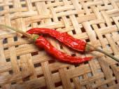 Suszone chili czerwony. — Zdjęcie stockowe