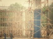 Unfinished building at construction site — Stock Photo