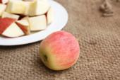 Slice of fresh red apples — Stock Photo