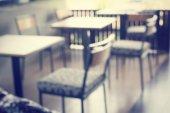 Rozmazané tabulky v restauraci — Stock fotografie
