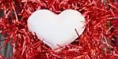 White heart — Stock Photo