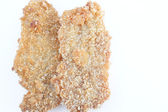 Fried chicken isolated — Stock Photo